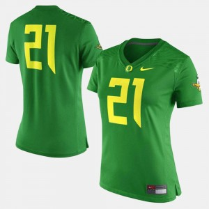 UO Jersey Green College Football Womens #21