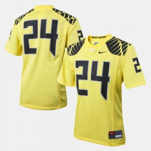 College Football For Kids University of Oregon Jersey #24 Yellow