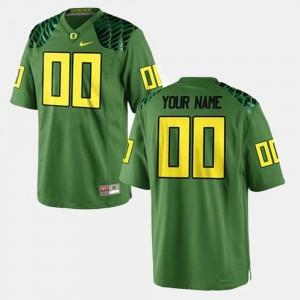 Ducks Custom Jersey Men's #00 Green College Football