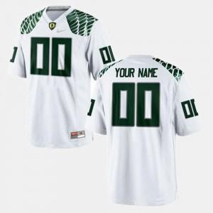 White College Football Oregon Custom Jersey For Men's #00