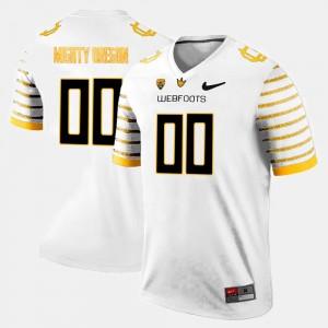 College Limited Football University of Oregon Custom Jerseys Men #00 White
