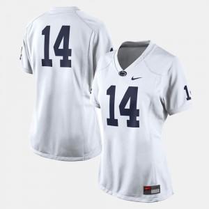 White College Football #14 PSU Jersey Womens