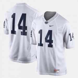 Men's College Football White PSU Jersey #14