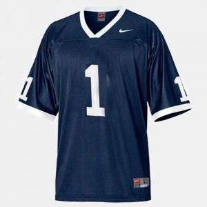 #1 College Football Mens Joe Paterno Penn State Jersey Blue