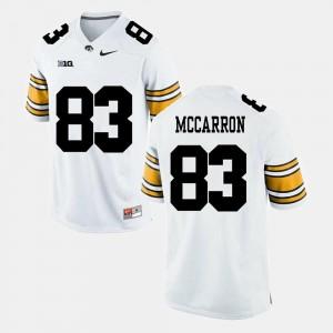 White Riley McCarron Iowa Hawkeyes Jersey Alumni Football Game For Men #83