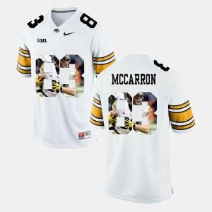 Pictorial Fashion White For Men Riley McCarron University of Iowa Jersey #83