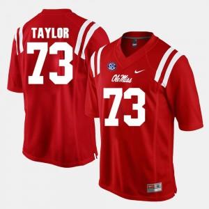 Rod Taylor University of Mississippi Jersey Men's Red #73 Alumni Football Game