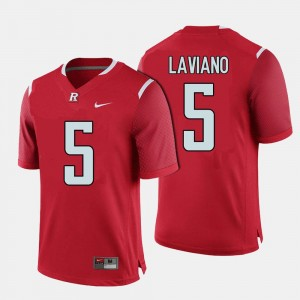 #5 Red College Football Chris Laviano Rutgers Jersey For Men