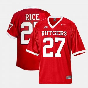 College Football #27 Red Ray Rice Rutgers University Jersey Mens