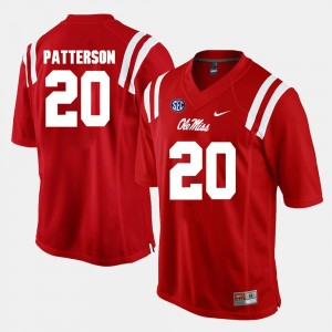 Alumni Football Game Red Mens Shea Patterson Ole Miss Rebels Jersey #20