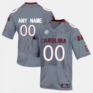 University of South Carolina Custom Jerseys Mens College Limited Football #00 Grey