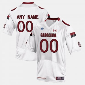 #00 College Limited Football Mens White South Carolina Gamecocks Customized Jersey