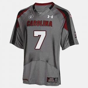 For Men College Football Gray Jadeveon Clowney South Carolina Jersey #7