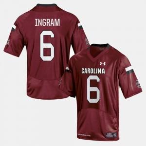 Men's College Football #6 Cardinal Melvin Ingram South Carolina Jersey