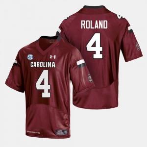 College Football #4 Shaq Roland South Carolina Gamecocks Jersey For Men Cardinal