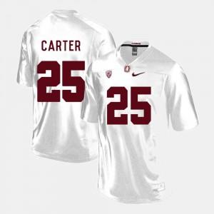 College Football #25 Alex Carter Stanford University Jersey White Mens