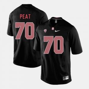 #70 Andrus Peat Stanford University Jersey Men's Black College Football