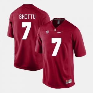 Men's Aziz Shittu Stanford University Jersey #7 College Football Cardinal