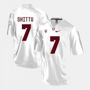 Aziz Shittu Cardinal Jersey #7 White Mens College Football