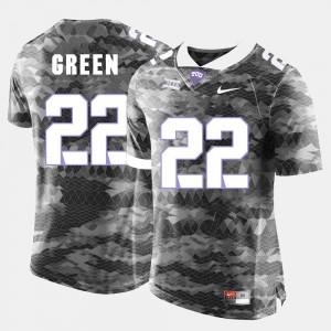 For Men #22 Aaron Green Texas Christian University Jersey Grey College Football