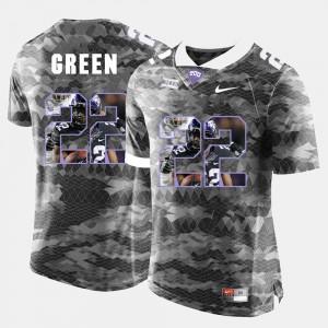 Men #22 Grey Aaron Green TCU Horned Frogs Jersey High-School Pride Pictorial Limited