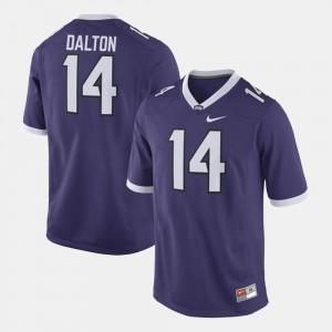 Purple Alumni Football Game For Men Andy Dalton TCU Jersey #14