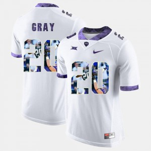 Mens Deante Gray TCU Jersey High-School Pride Pictorial Limited White #20