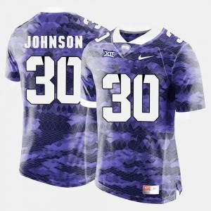 College Football For Men Purple #30 Denzel Johnson TCU Jersey