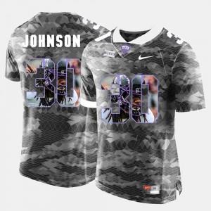 Grey #30 Men Denzel Johnson Texas Christian Jersey High-School Pride Pictorial Limited