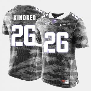 #26 College Football For Men's Derrick Kindred Texas Christian University Jersey Grey