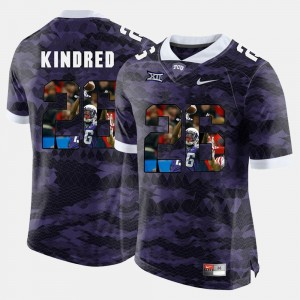 #26 For Men Purple Derrick Kindred Texas Christian Jersey High-School Pride Pictorial Limited