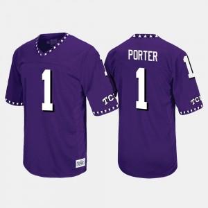 #1 Purple Throwback Emanuel Porter TCU Jersey For Men's