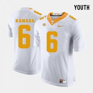 #6 Alvin Kamara UT Jersey White Youth College Football