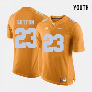 Orange College Football Cameron Sutton Tennessee Jersey #23 Youth(Kids)