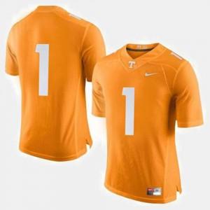 Orange #1 College Football Tennessee Jersey Men's