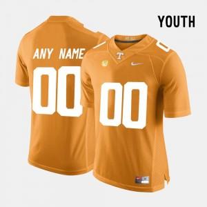 #00 Orange Tennessee Volunteers Custom Jersey For Kids College Limited Football