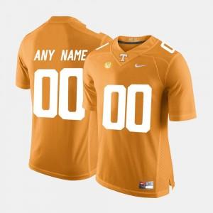 College Limited Football Men's #00 Tennessee Custom Jerseys Orange