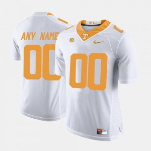 Tennessee Vols Custom Jerseys College Limited Football #00 For Men White