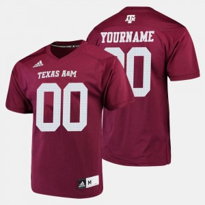 College Football #00 Men Aggies Custom Jerseys Maroon