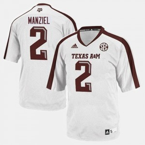 College Football #2 Johnny Manziel Texas A&M Aggies Jersey Kids White
