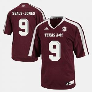 Men's Ricky Seals-Jones Texas A&M Aggies Jersey College Football #9 Red