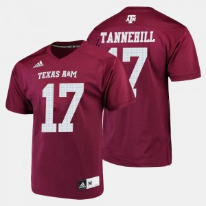 Maroon Men's College Football Ryan Tannehill Texas A&M Jersey #17