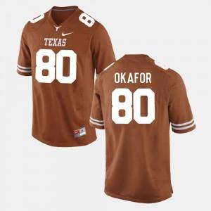 #80 College Football For Men's Alex Okafor UT Jersey Burnt Orange