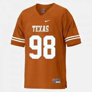 Orange Men's Brian Orakpo University of Texas Jersey #98 College Football