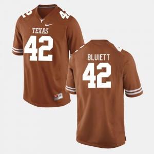Caleb Bluiett Longhorns Jersey Men Burnt Orange #42 College Football