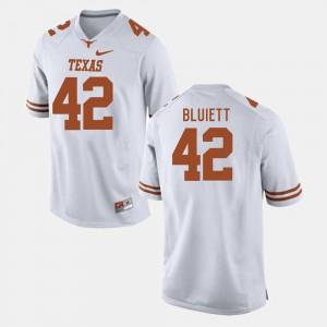 Caleb Bluiett Texas Longhorns Jersey White College Football #42 Men