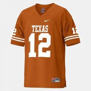 For Kids Orange Colt McCoy University of Texas Jersey #12 College Football