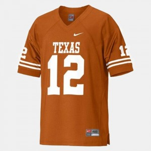 Orange College Football #12 Colt McCoy Texas Longhorns Jersey Men