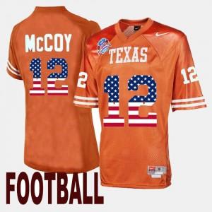 Throwback #12 Orange Men's Colt McCoy Texas Longhorns Jersey