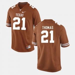 #21 For Men College Football Burnt Orange Duke Thomas University of Texas Jersey